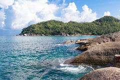 Paradise. Stone beach on the island of Koh Samui Royalty Free Stock Images