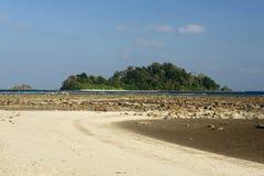 Paradise-strand bij het Eiland van Andaman en Nicobar-, India stock foto