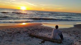 A paradise sunset Royalty Free Stock Photos