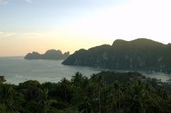 Mountains on Thailand ocean Stock Photos