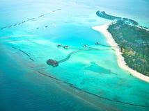 Paradise tropic island. Aerial view Stock Photos