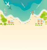 Paradise tropical beach background Royalty Free Stock Photography