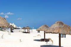 Paradise tropical beach in Cancun, Mexico. Stock Photo