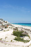 Paradise tropical beach in Cancun, Mexico. Stock Photography