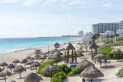 Paradise tropical beach in Cancun, Mexico. Stock Image
