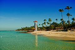 Paradise tropical island in Dominican Republic. Royalty Free Stock Images