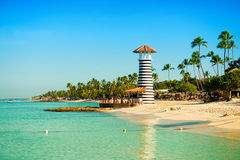 Paradise tropical island in Dominican Republic. Royalty Free Stock Photography