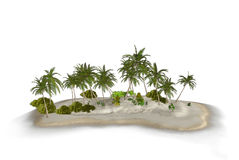 Paradise Tropical Island Illustration Royalty Free Stock Photography