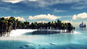 Paradise tropical island Stock Photography