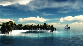 Paradise tropical island Royalty Free Stock Images