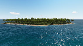 Paradise tropical island in sea. Stock Photos