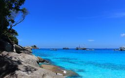 Idyllic seascape of the tropical sea Stock Images