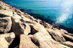 Paradise tropical wallpaper / sea view Barcelona Beach Stock Images