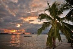 Paradise Tropics Sunset Royalty Free Stock Photography