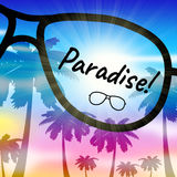 Paradise Vacation Represents Beautiful Resort And Tropic Royalty Free Stock Photos