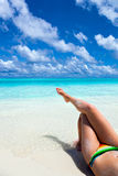 Paradise vacation on a tropical beach Royalty Free Stock Images