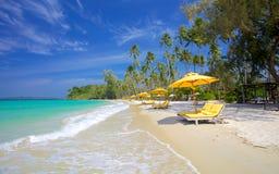 Paradise vacation on a tropical island Stock Photos