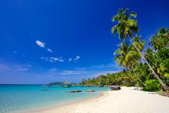 Paradise vacation on a tropical island Stock Image