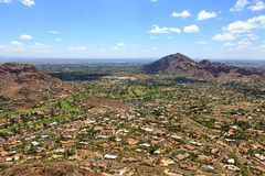 Paradise Valley & Camelback Mountain Stock Photo