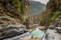 Paradise Valley, Morocco. The upper part of a deep gorge called Paradise Valley in the lower foothills of Morocco& x27;s Atlas mountains Royalty Free Stock Images
