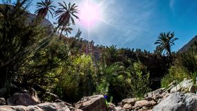 Paradise Valley Panorama Timelapse 4k. 3-Axis timelapse of a valley in Morocco. Shot in 4k stock video footage