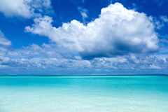 Paradise view of the tropical Caribbean island Stock Photo
