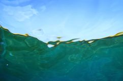 Paradise water Below the surface. Underwater photography. Royalty Free Stock Photo