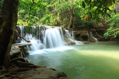 Paradise Waterfall in Kanchanaburi, Thailand. Paradise Waterfall (Huay Mae Kamin Waterfall) in Kanchanaburi, Thailand Royalty Free Stock Image