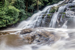 Paradise Waterfall located in deep forest of Thailand Royalty Free Stock Image