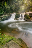Paradise Waterfall located in deep forest of Thailand Stock Photography