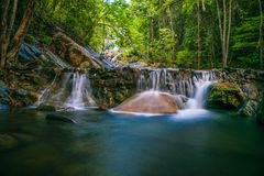 Paradise Waterfalls at Koh Phangan stock photos