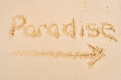 Paradise This Way Royalty Free Stock Images
