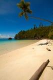 Paradise white sand tropical island beach Stock Photo