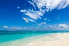 Paradise wild beach on the Caribbean Stock Photo