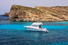 Paradise yacht Stock Photo