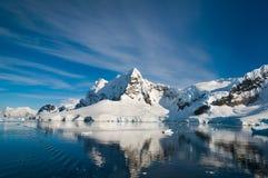 Paradisfjärd Antarktis Arkivfoto
