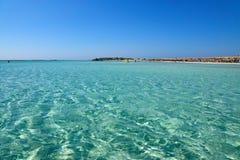 Paradisiac beach in Greece Stock Photo