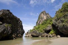 Paradisiac beach at Had Yao, Trang, Thailand. Paradisiac beach at Had Yao, in trang province, Thailand, wide angle Royalty Free Stock Photography