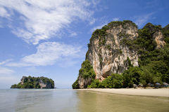 Paradisiac beach at Had Yao, Trang, Thailand. Wide angle Stock Photography