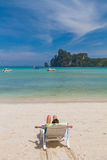 Paradisiac beach of Koh Phi Phi Royalty Free Stock Photos