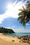 Paradisiac beach in Phuket Stock Images