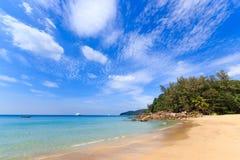 Paradisiac beach in Phuket Stock Photo