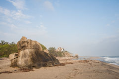paradisiac na plaży Zdjęcia Royalty Free