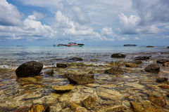 Paradisiac plaża Patong, Koh Phuket w Tajlandia Zdjęcie Royalty Free