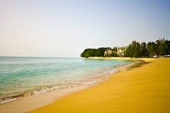 paradisiac sandwhite för strand Arkivbilder