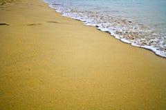 Paradisiac weißer Sandstrand Lizenzfreie Stockfotografie