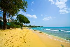 Paradisiac White sand beach Royalty Free Stock Image