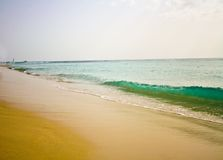 Paradisiac White sand beach Royalty Free Stock Photo