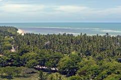 The paradisiacal beaches of Porto Seguro, Bahia Stock Photography