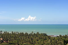 The paradisiacal beaches of Porto Seguro, Bahia Royalty Free Stock Photos